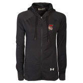 Ladies Under Armour Black Varsity Full Zip Hoodie-SLU Flag
