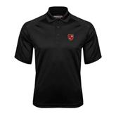 Black Textured Saddle Shoulder Polo-Official Shield