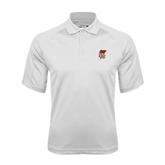 White Textured Saddle Shoulder Polo-SLU Flag