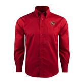 Red House Red Long Sleeve Shirt-SLU Shield