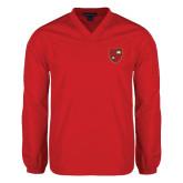 V Neck Red Raglan Windshirt-Official Shield