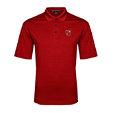 Red Performance Fine Jacquard Polo-Official Shield