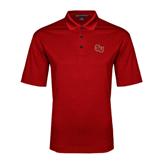 Red Performance Fine Jacquard Polo-SLU
