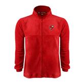 Fleece Full Zip Red Jacket-Official Shield