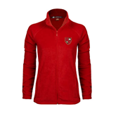 Ladies Fleece Full Zip Red Jacket-Official Shield