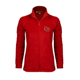 Ladies Fleece Full Zip Red Jacket-SLU