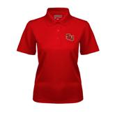 Ladies Red Dry Mesh Polo-SLU