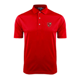 Red Dry Mesh Polo-Official Shield