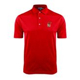 Red Dry Mesh Polo-SLU Flag