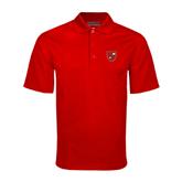 Red Mini Stripe Polo-Official Shield