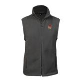 Fleece Full Zip Charcoal Vest-SLU Flag