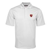 White Mini Stripe Polo-Official Shield