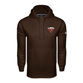 Under Armour Brown Performance Sweats Team Hoodie-Skiing