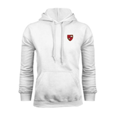 White Fleece Hoodie-Official Shield