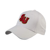 White Heavyweight Twill Pro Style Hat-SLU