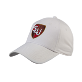 White Heavyweight Twill Pro Style Hat-SLU Shield