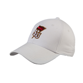 White Heavyweight Twill Pro Style Hat-SLU Flag