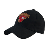 Black Heavyweight Twill Pro Style Hat-Official Logo