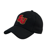 Black Heavyweight Twill Pro Style Hat-SLU