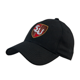 Black Heavyweight Twill Pro Style Hat-SLU Shield