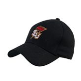 Black Heavyweight Twill Pro Style Hat-SLU Flag