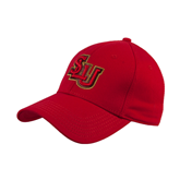 Red Heavyweight Twill Pro Style Hat-SLU