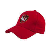 Red Heavyweight Twill Pro Style Hat-SLU Shield