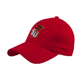 Red Heavyweight Twill Pro Style Hat-SLU Flag