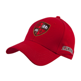 Red Heavyweight Twill Pro Style Hat-Official Shield