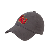Charcoal Twill Unstructured Low Profile Hat-SLU