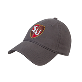 Charcoal Twill Unstructured Low Profile Hat-SLU Shield