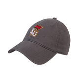 Charcoal Twill Unstructured Low Profile Hat-SLU Flag