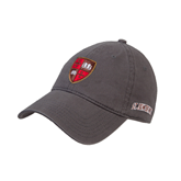 Charcoal Twill Unstructured Low Profile Hat-Official Shield