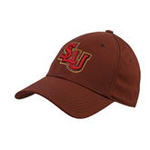 Brown Heavyweight Twill Pro Style Hat-SLU