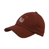 Brown Heavyweight Twill Pro Style Hat-SLU Flag