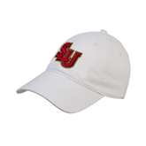 White Twill Unstructured Low Profile Hat-SLU