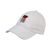 White Twill Unstructured Low Profile Hat-SLU Flag