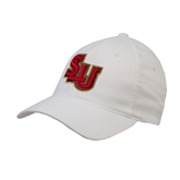 White OttoFlex Unstructured Low Profile Hat-SLU
