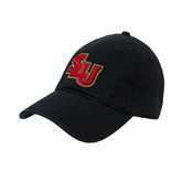 Black Twill Unstructured Low Profile Hat-SLU