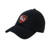 Black Twill Unstructured Low Profile Hat-SLU Shield