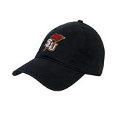 Black Twill Unstructured Low Profile Hat-SLU Flag