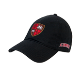 Black Twill Unstructured Low Profile Hat-Official Shield