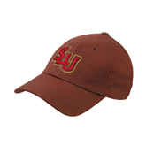 Brown Twill Unstructured Low Profile Hat-SLU