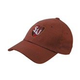 Brown Twill Unstructured Low Profile Hat-SLU Shield