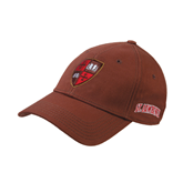 Brown Twill Unstructured Low Profile Hat-Official Shield