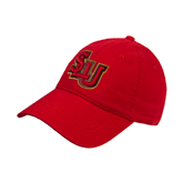 Red Twill Unstructured Low Profile Hat-SLU