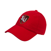 Red Twill Unstructured Low Profile Hat-SLU Shield