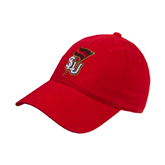 Red Twill Unstructured Low Profile Hat-SLU Flag