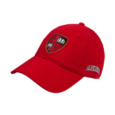 Red Twill Unstructured Low Profile Hat-Official Shield