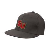 Charcoal Flexfit Flat Bill Pro Style Hat-SLU